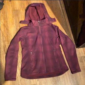 AVIA (S) Deep Plum Fleece Lined Jacket w/ Removable Hood!!!